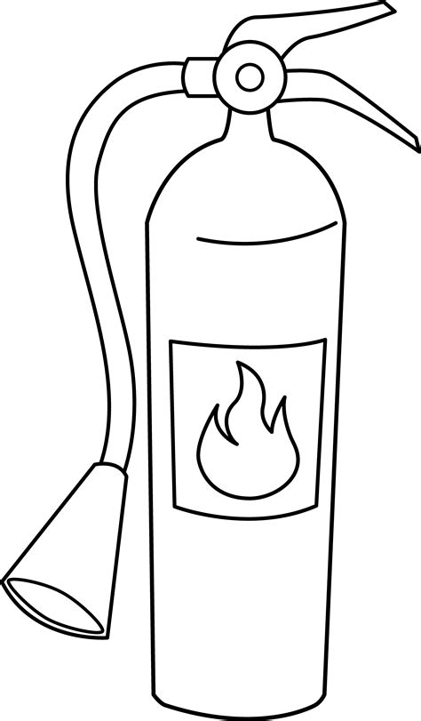 Extinguisher Coloring Page extinguisher line free clip