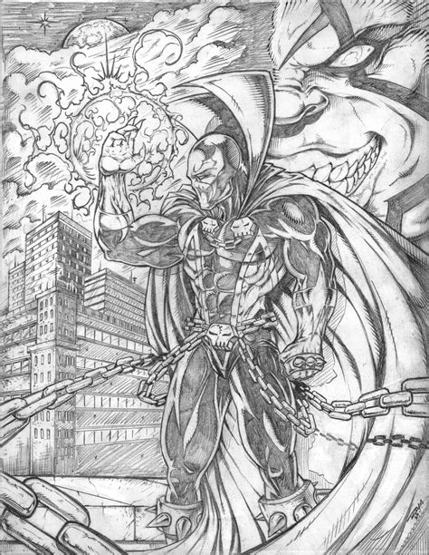 Kaos Spawn spawn and violator pencils by ram by robertmarzullo on