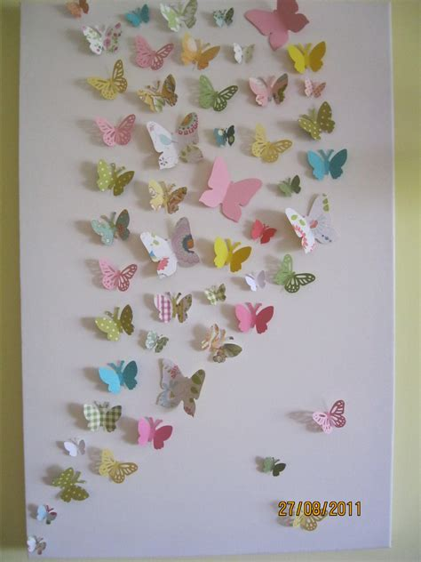 Butterfly Wall Decor For Nursery 3d Butterfly Wall Nursery Children S By Ronandnoy