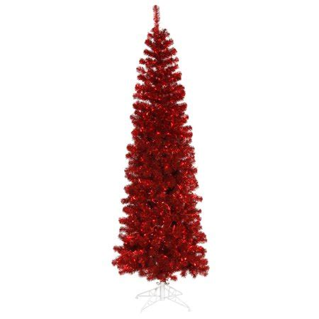 walmart pencil christmas trees artificial 5 5 pre lit tinsel pencil artificial tree lights walmart