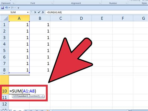 how to insert how to add up columns in excel 6 steps with pictures