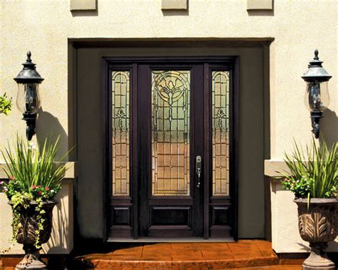front door with side lights 1 panel 3 4 lite palacio fiberglass entry door with side