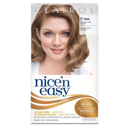 8 best images of clairol permanent hair color chart and also blowout hair braids afwf co clairol n easy permanent color 7 106a neutral 1 0 kit walmart