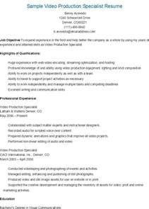 Production Specialist Cover Letter resume sles sle production specialist resume