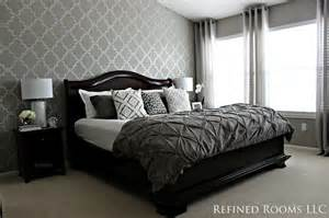 Gray Blue Bedroom Ideas - monochromatic master bedroom