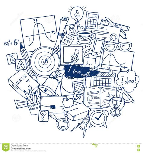 how to doodle in math mathematics science theme pattern about school
