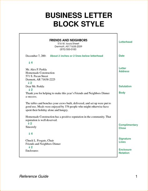 Block Style Business Letter » Home Design 2017