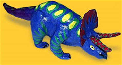 How To Make A Paper Mache Dinosaur Sculpture - kinetosaurs paper mache dinosaur sculpture