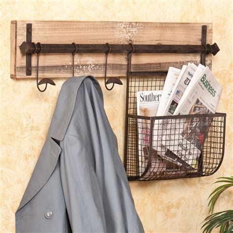 Wall Coat Rack With Storage by Wildon Home 174 Hton Entryway Wall Coat Rack With Storage