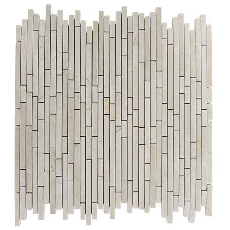 random pattern mosaic tile splashback tile windsor random crema marfil pattern 12 in