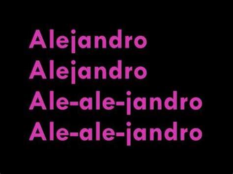 alejandro demo version alejandro demo version hq lyrics ringtone mp3