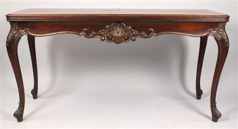 lot 335 louis xv style console table converts to dining