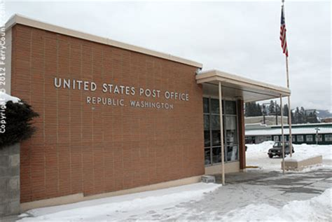 Wauconda Post Office by Republic Post Office Ferry County Wa