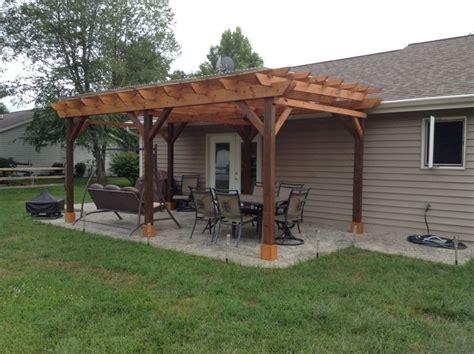 building a pergola on a patio covered pergola plans 12x18 outside patio wood design
