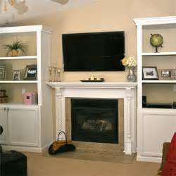 Birch Bookshelves by New Mantel And Storage After Best Fireplace Before And