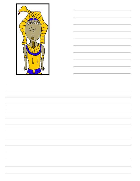 ancient egypt printable writing paper 10th plague death of firstborn
