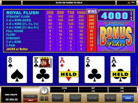 bonus poker  gambling bible