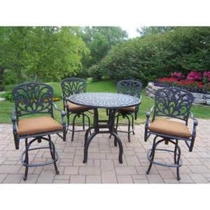 Counter Height Patio Sets by Oakland Living Hampton Counter Height 5 Piece Patio Bar