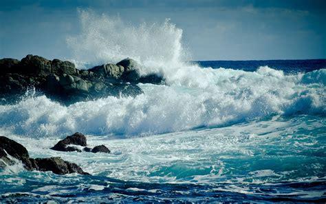 nature landscape sea waves wallpapers hd desktop