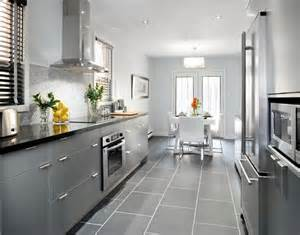 delightful Grey Kitchen Cabinets What Colour Walls #1: Elegant-gray-kitchen-decorating-ideas.jpg