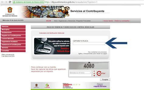 consulta pago tenencia edo mex consulta de placas para tenencia 2016 estado de mexico