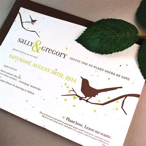 seed paper wedding invitation kits song plantable wedding invitation plantable wedding