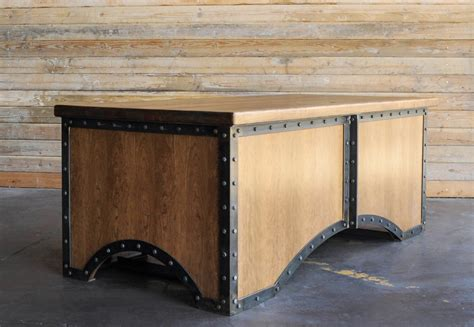 French Style Armoires Chairman Desk Vintage Industrial Furniture