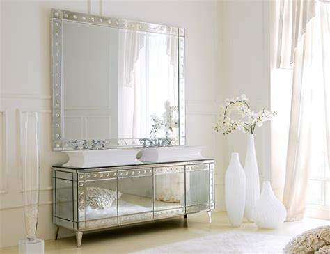Mirror For Bathroom Vanity Hermitage H1 High End Italian Bathroom Vanity In Venetian Mirror