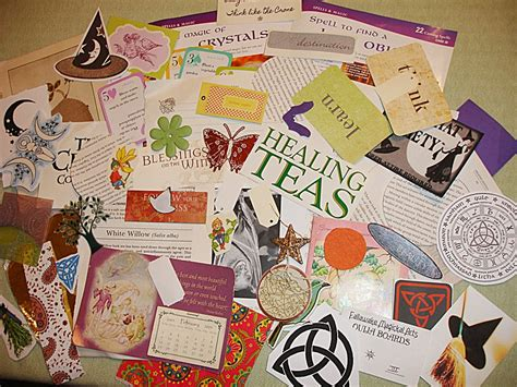 Paper Kits And Supplies - wiccan collage kit paper craft supply