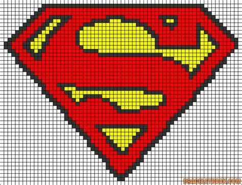 pattern superman logo superman logo perler bead pattern strijkkralen pinterest