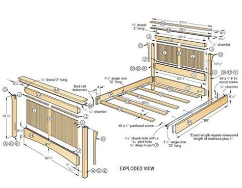 wooden bed frame plans pdf wood bed frame plans design wooden plans how to and