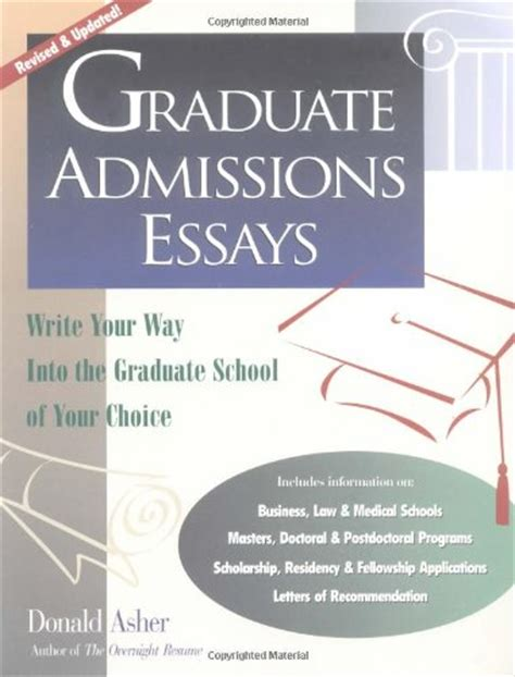 Graduate School Essay Tips by College Admission Essay Examples
