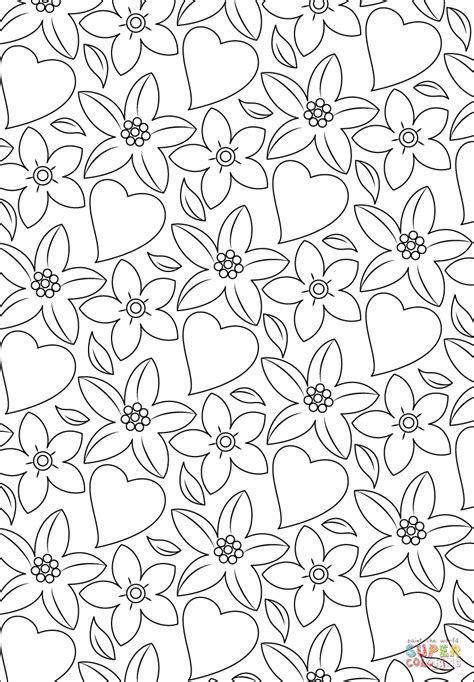 printable hearts and flowers flowers or hearts colouring pages and coloring printable