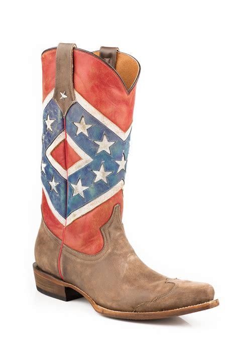 mens rebel flag boots 28 images roper mens american flags boots rebel flag brown toe cap s