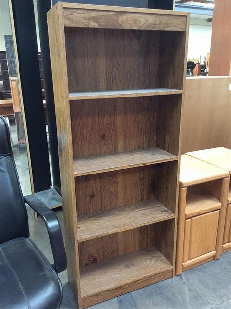 4 shelf particle board bookcase