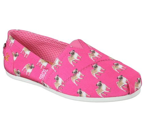 skechers bobs for dogs skechers bobs plush puggin around in pink skechers womens casual on shoeline