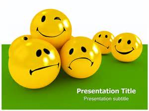 positive attitude powerpoint template with emoticons