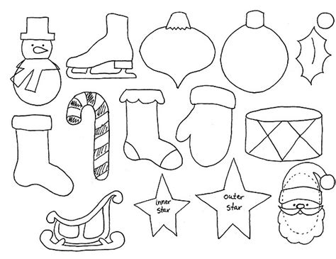 printable holiday shapes advent calender ornament templates good to use to make