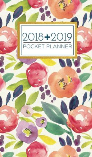 2018 2019 two year monthly pocket planner 24 month calendar notes and phone book u s holidays size 4 0 x 6 5 handbook planner peacock books 2018 2019 pocket planner 24 month calendar schedule