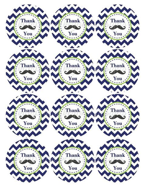 printable mustache stickers little man mustache bash thank you favor tags baby shower