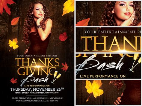 club flyers templates thanksgiving club flyer template flyerheroes