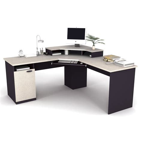 Home Office Corner Workstation Desk Corner Home Furniture Stock