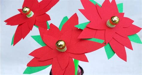 poinsettia craft for poinsettia flower craft printable template