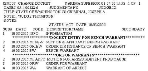 Wa Courts Warrant Search How To Docket Warrants