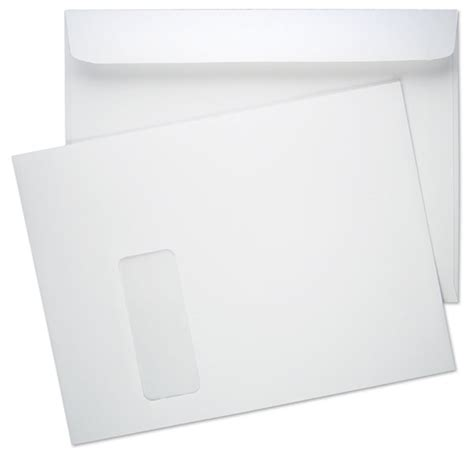 9 X 12 Booklet 28lb White Wove Vertical Window 2 Booklet Envelopes Paoli Envelope 12x9 Envelope Template