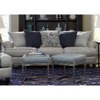 classic blue silver striped sofa quincy rc willey