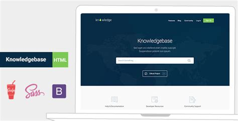 website templates for knowledge base knowledge base templates from themeforest