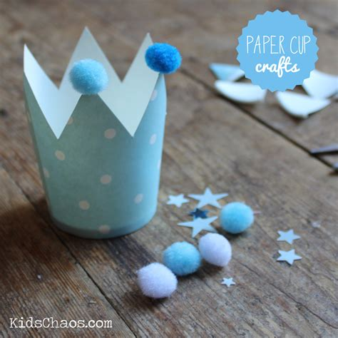 Paper Cup Craft For - frozen crown craft paper cup craft kidschaos