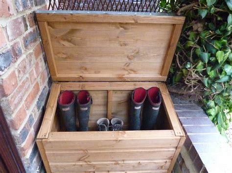timber wood boot box chest wellies salt parcel