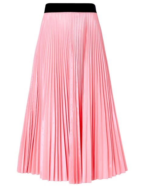 tome pink taffeta accordion pleat skirt in pink lyst